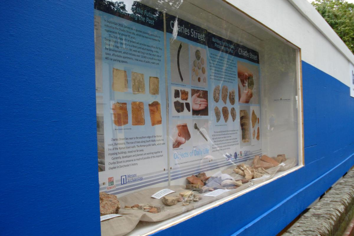 Heritage Interpretation temporary onsite displays from Wessex Archaeology
