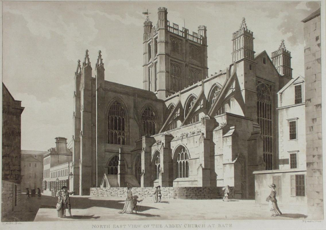 North East View of the Abbey Church by James Gandon