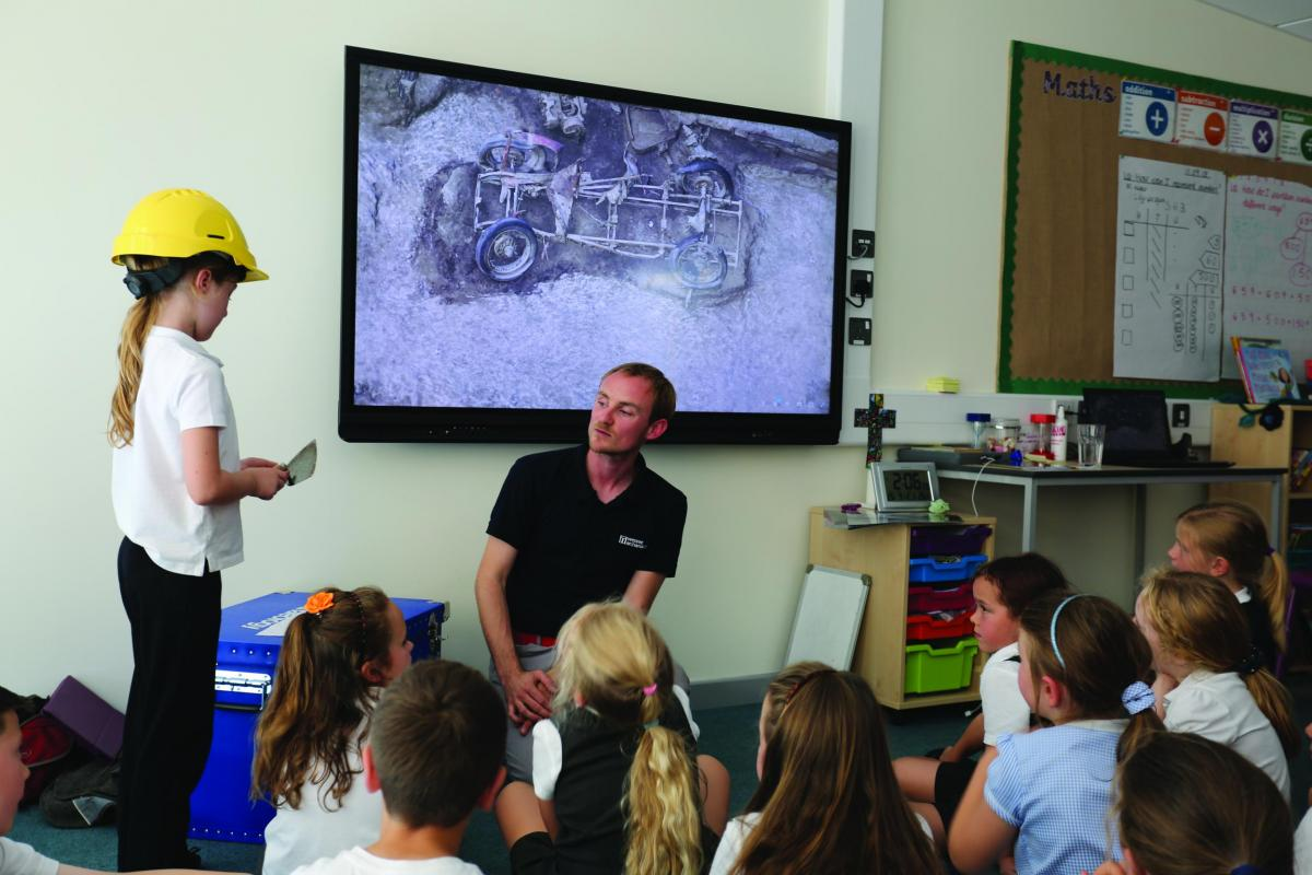 Wessex Archaeology offered the school free sessions utilising archaeology as a stimulus for exciting science, literacy and history learning