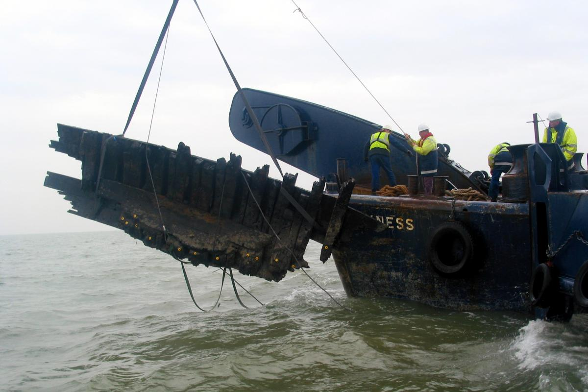 Wreck in the Thames Princes Channel
