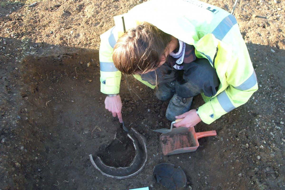 Archaeological excavation work at Renny Lodge Hospital
