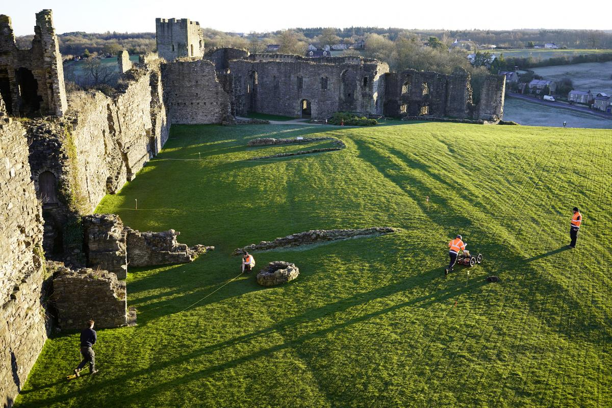 Geophysical survey at Richmond castle to record the archaeology below the heritage site