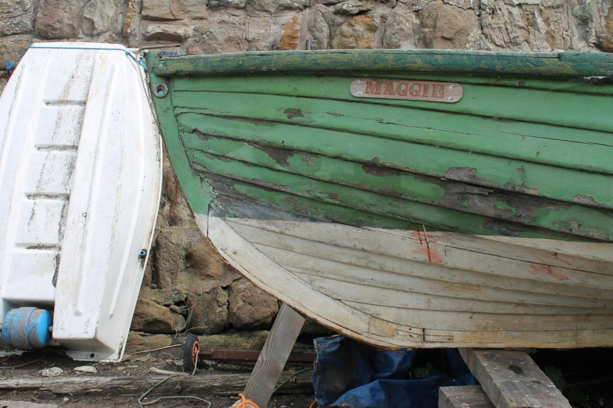 The scaffie Maggie at the Scottish Fisheries Museum