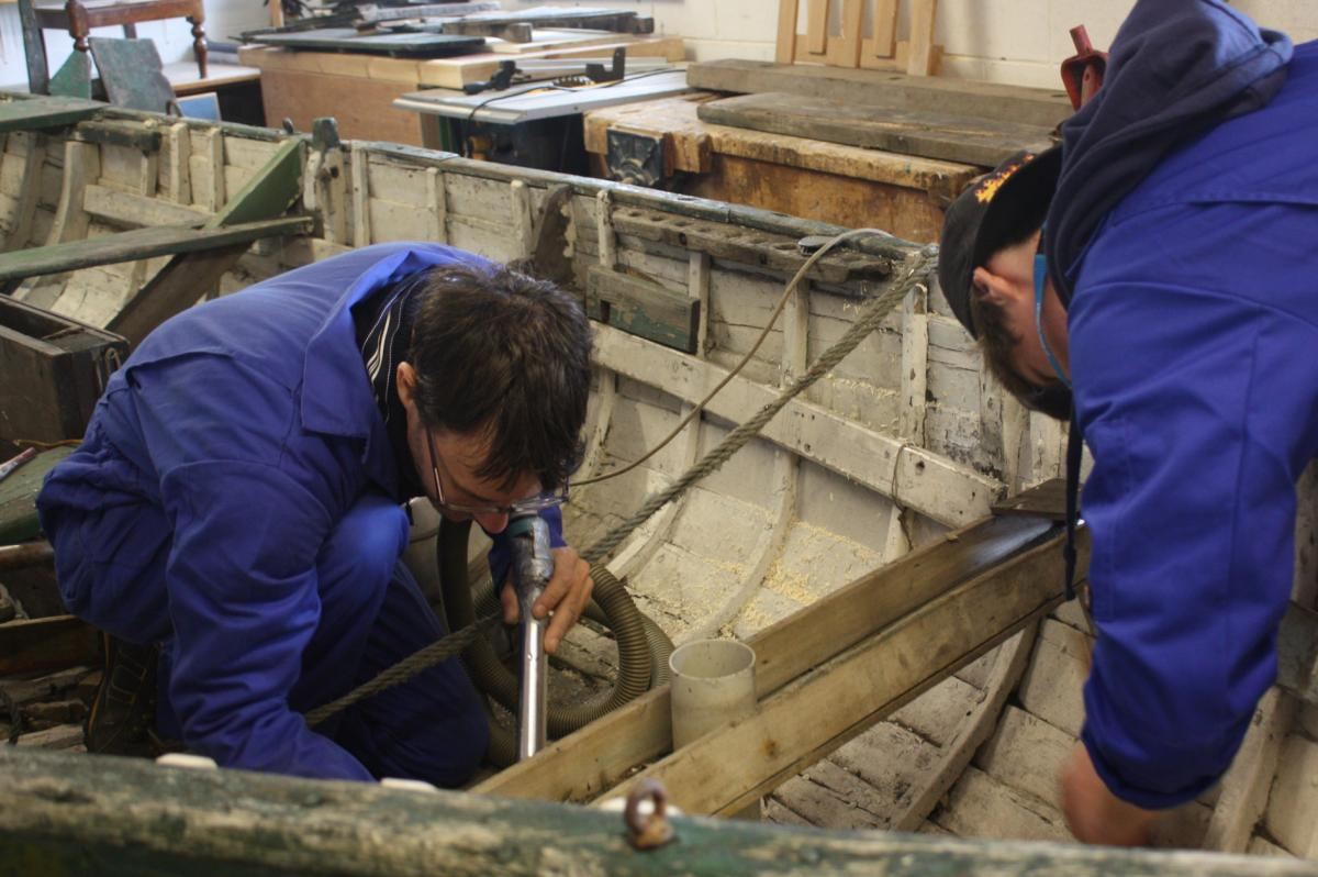 Restoration work on a small vessel Scottish Fisheries Museum