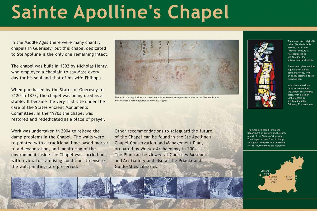 Ste Apolline's display panel