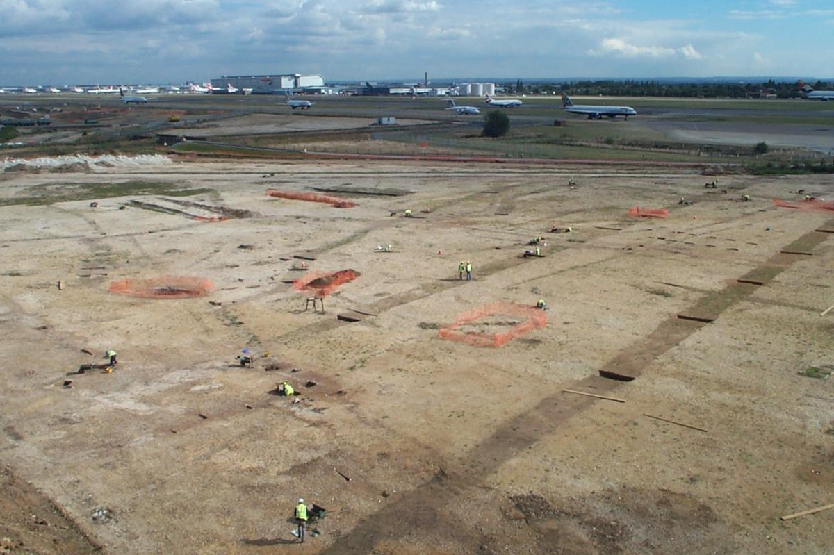Excavation at Terminal 5 Heathrow Airport