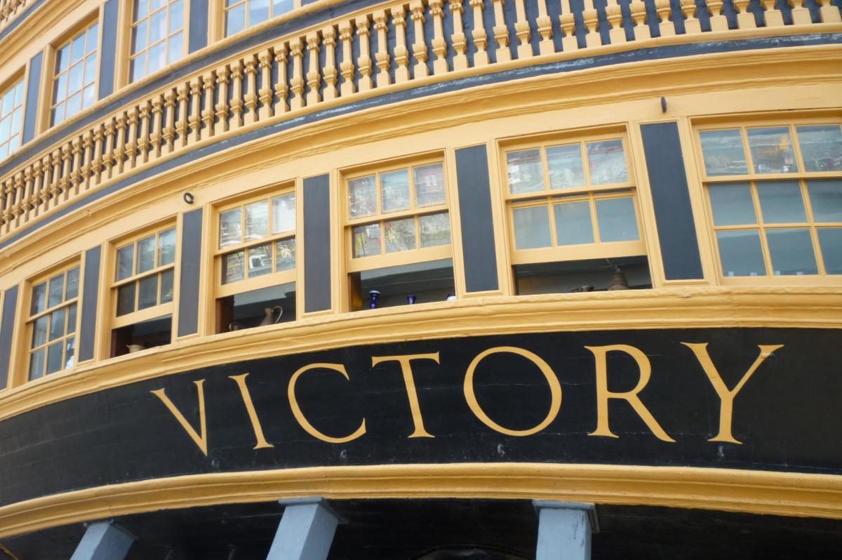 HMS Victory stern view