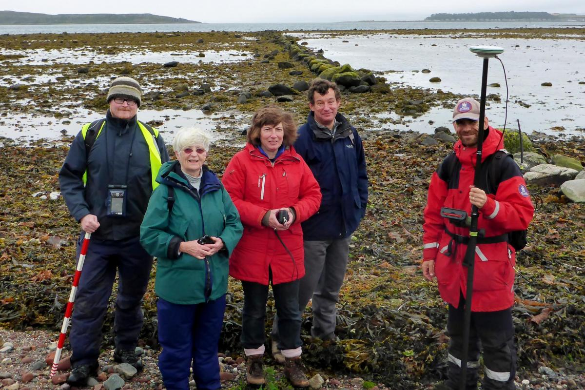 Volunteers recording intertidal structures in Scotland