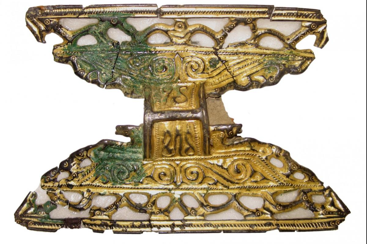 Brooch from West Langton after conservation