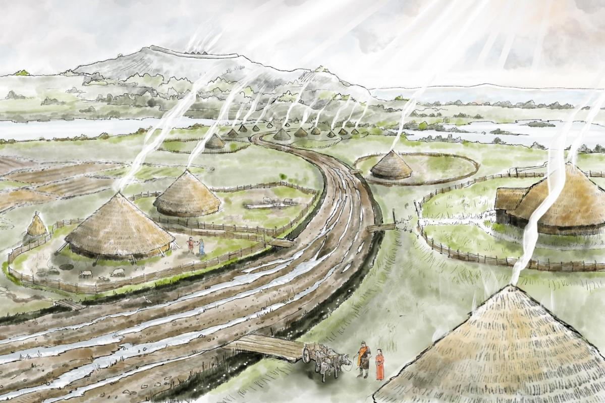 Heritage Interpretation from Wessex Archaeology 2D Reconstructions
