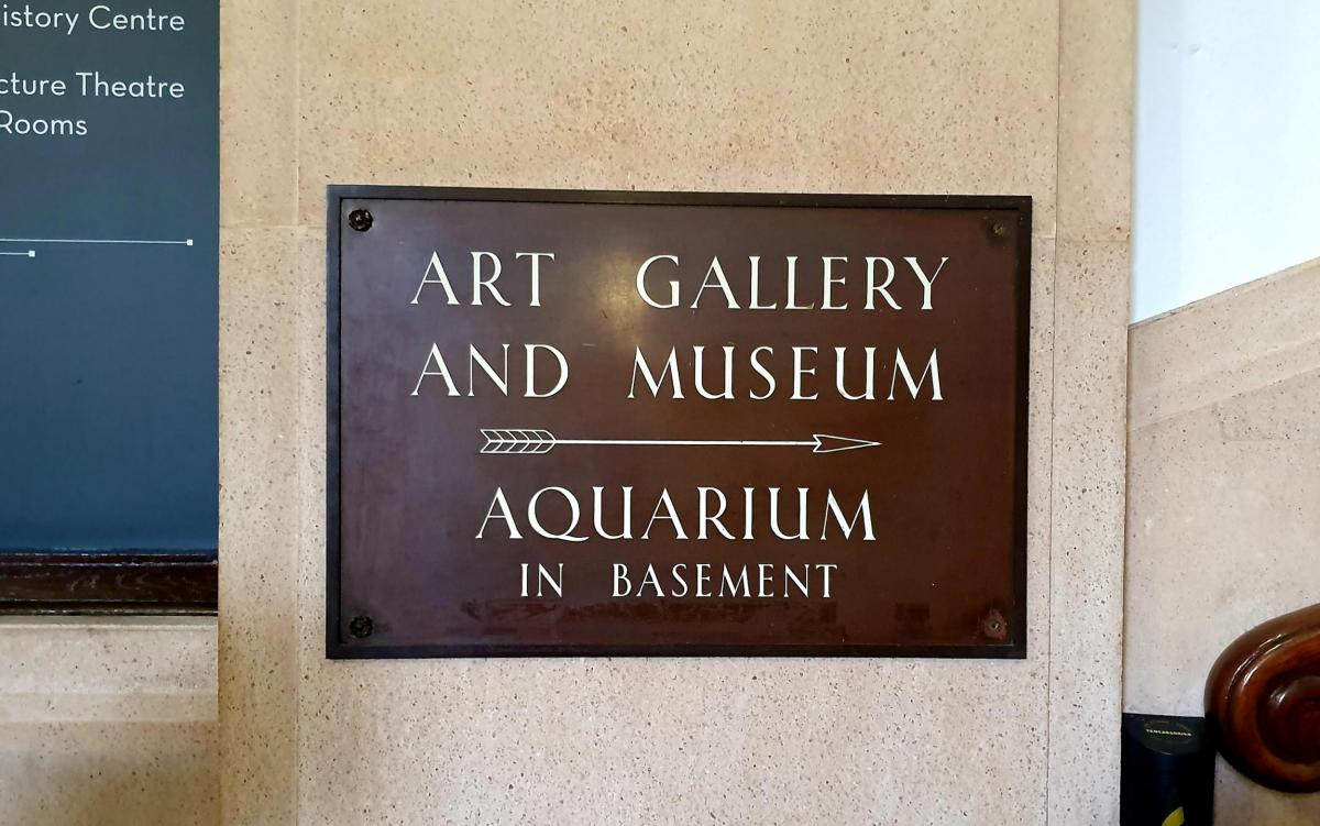 Signage at the Bolton Museum and Art Gallery, venue of the NW Industrial Archaeology Society Conference 2019