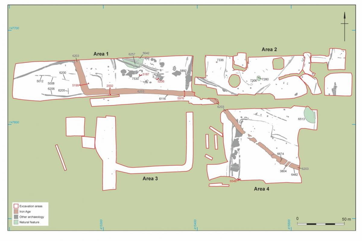 Plan showing Bronze Age features at Durrington