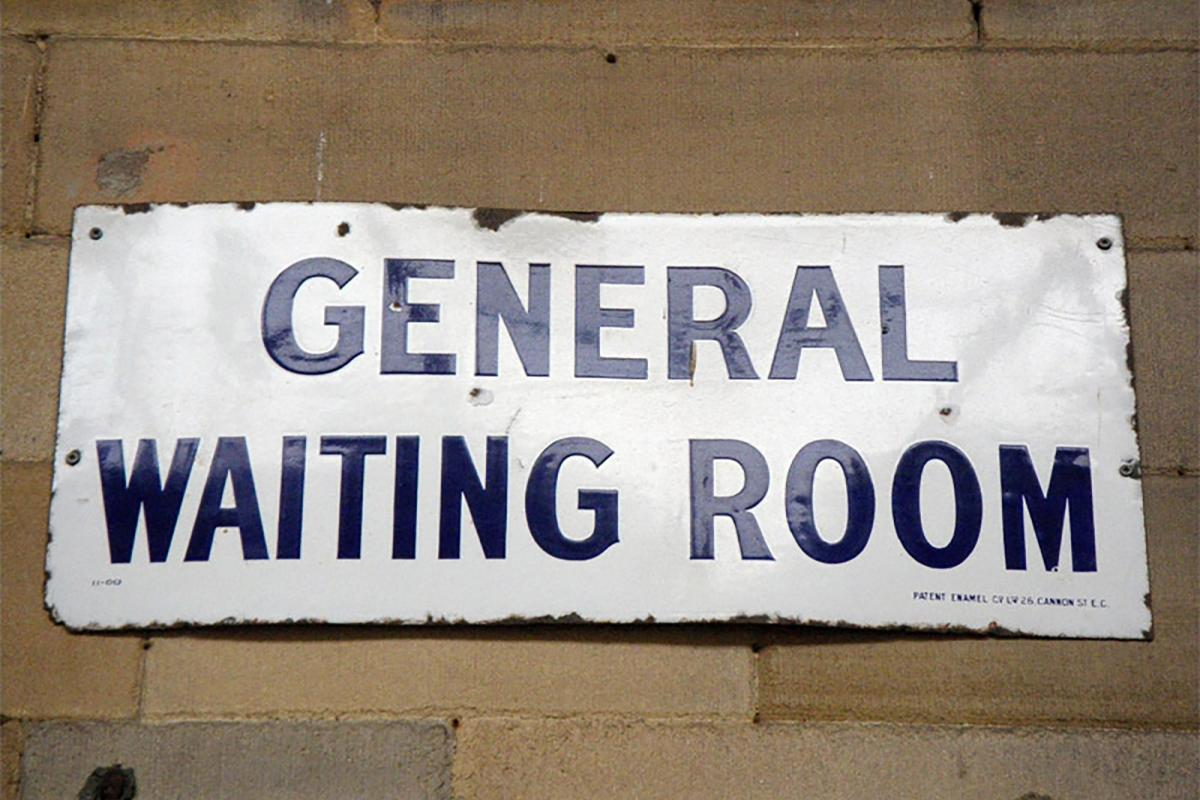 General Waiting Room sign from Huddersfield's Railway Station