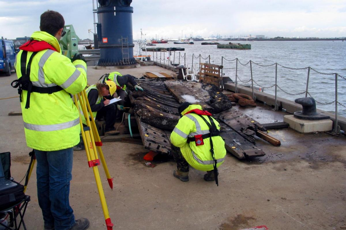 Recording of the Gresham Wreck recovered from the Thames Channel