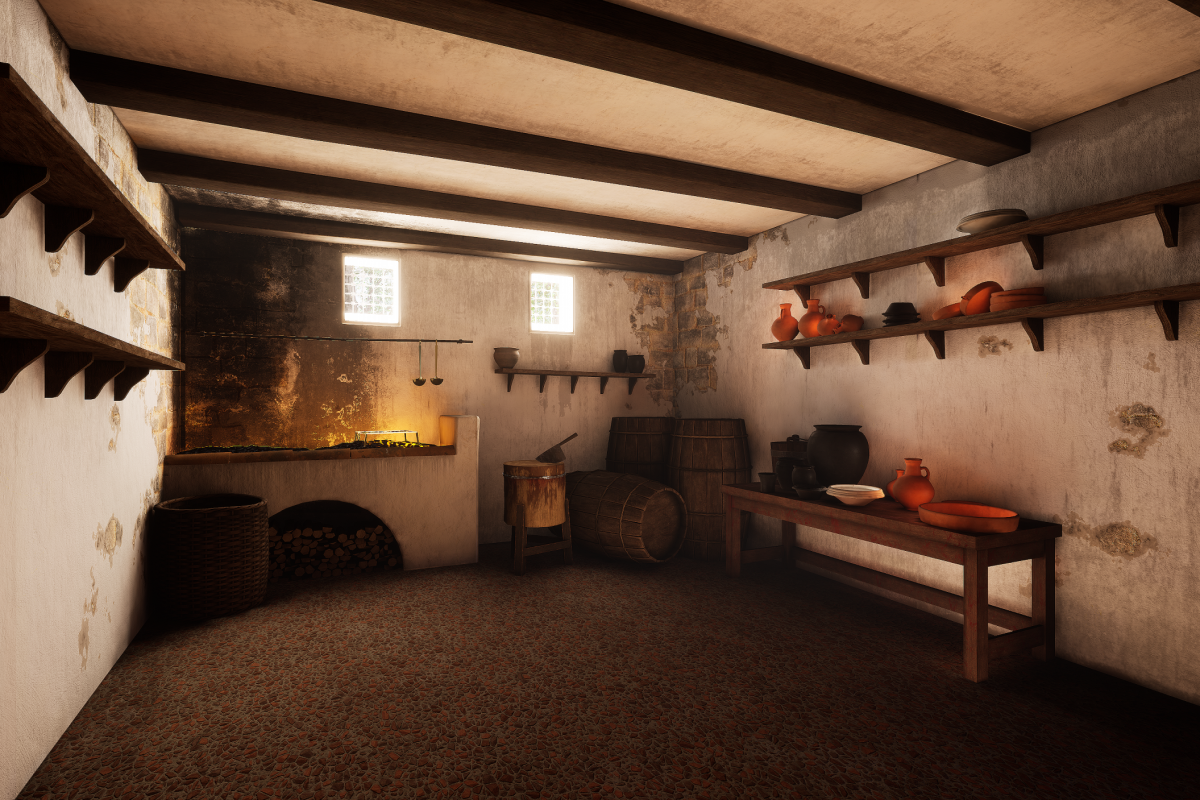 Heritage Interpretation Virtual Reality from Wessex Archaeology Roman Kitchen