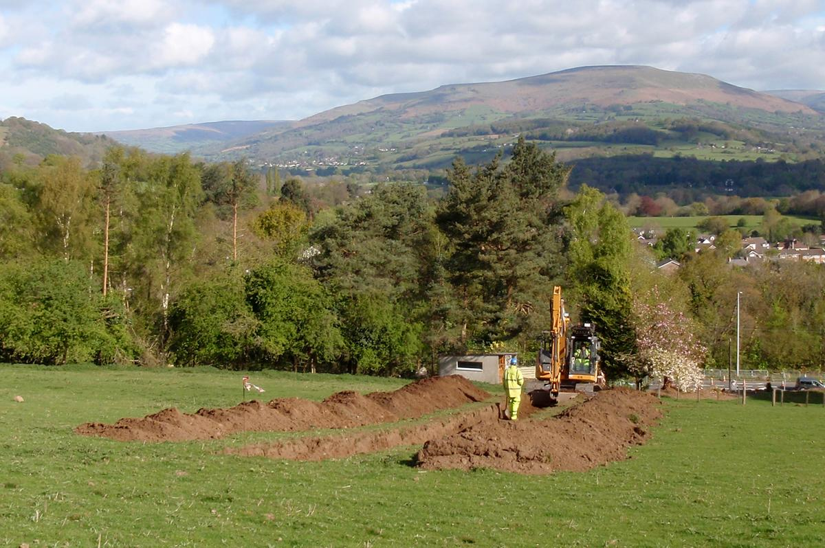Trial Trenching on the heads of valley project