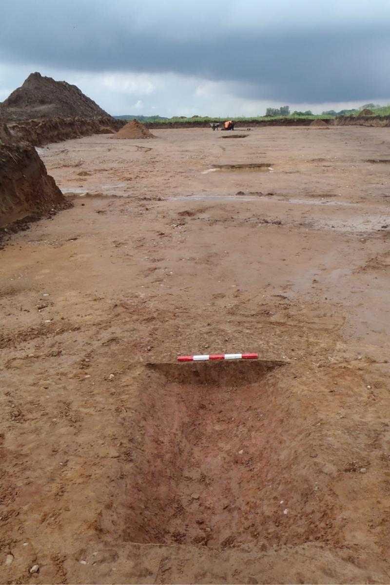 Archaeological excavation work at Rossington