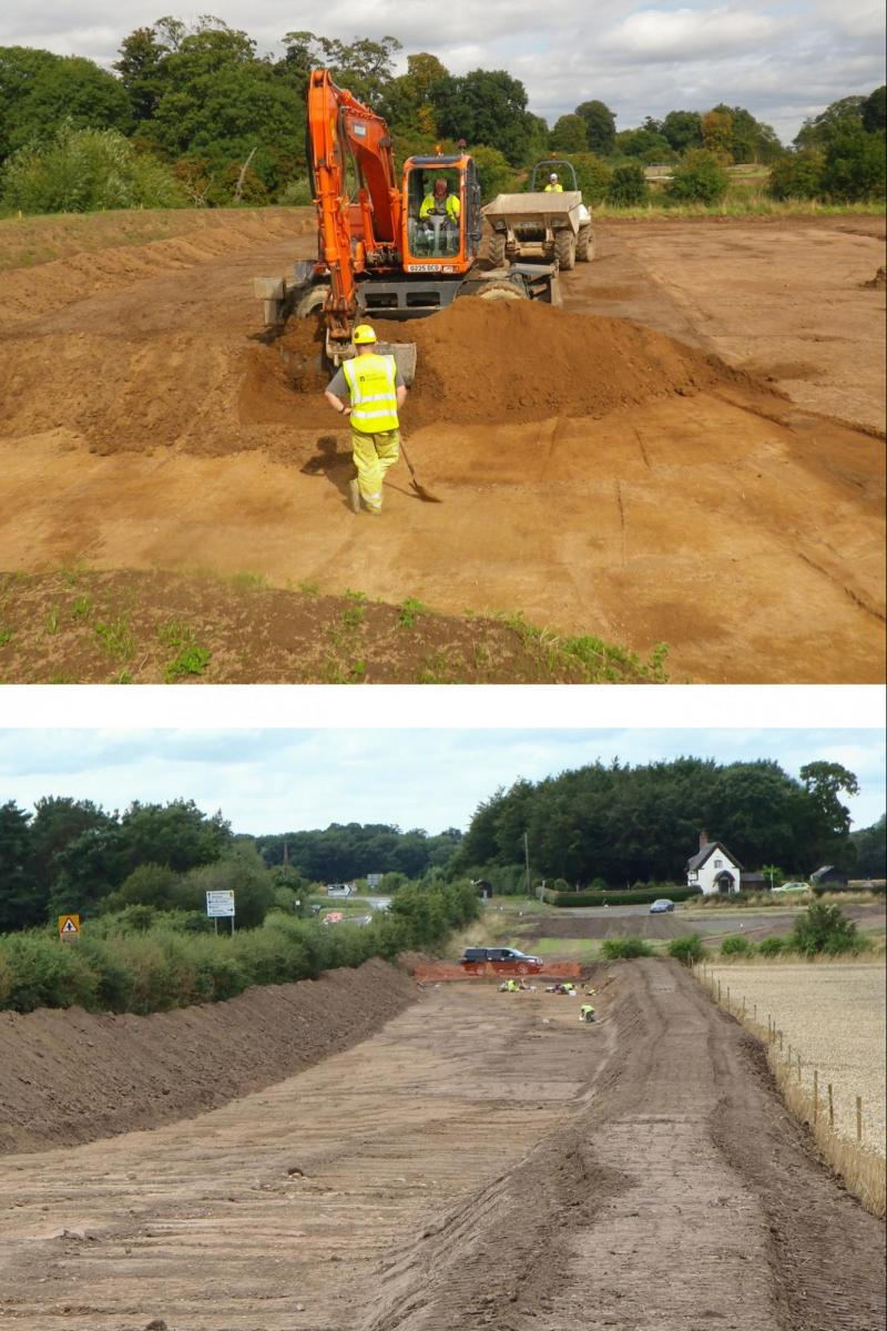 Archaeological work on the Wroxeter Water Main