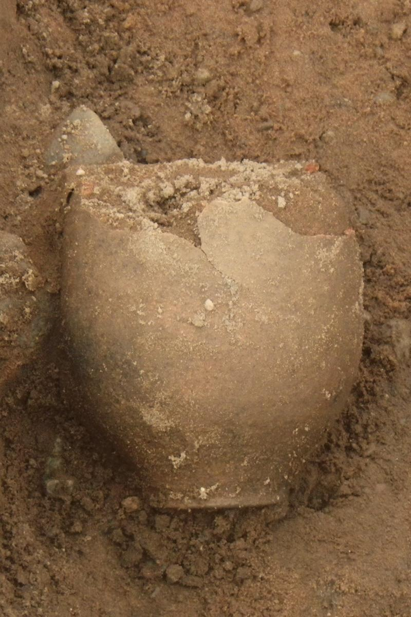 Pottery discovered during archaeological work on the Wroxeter Water Main