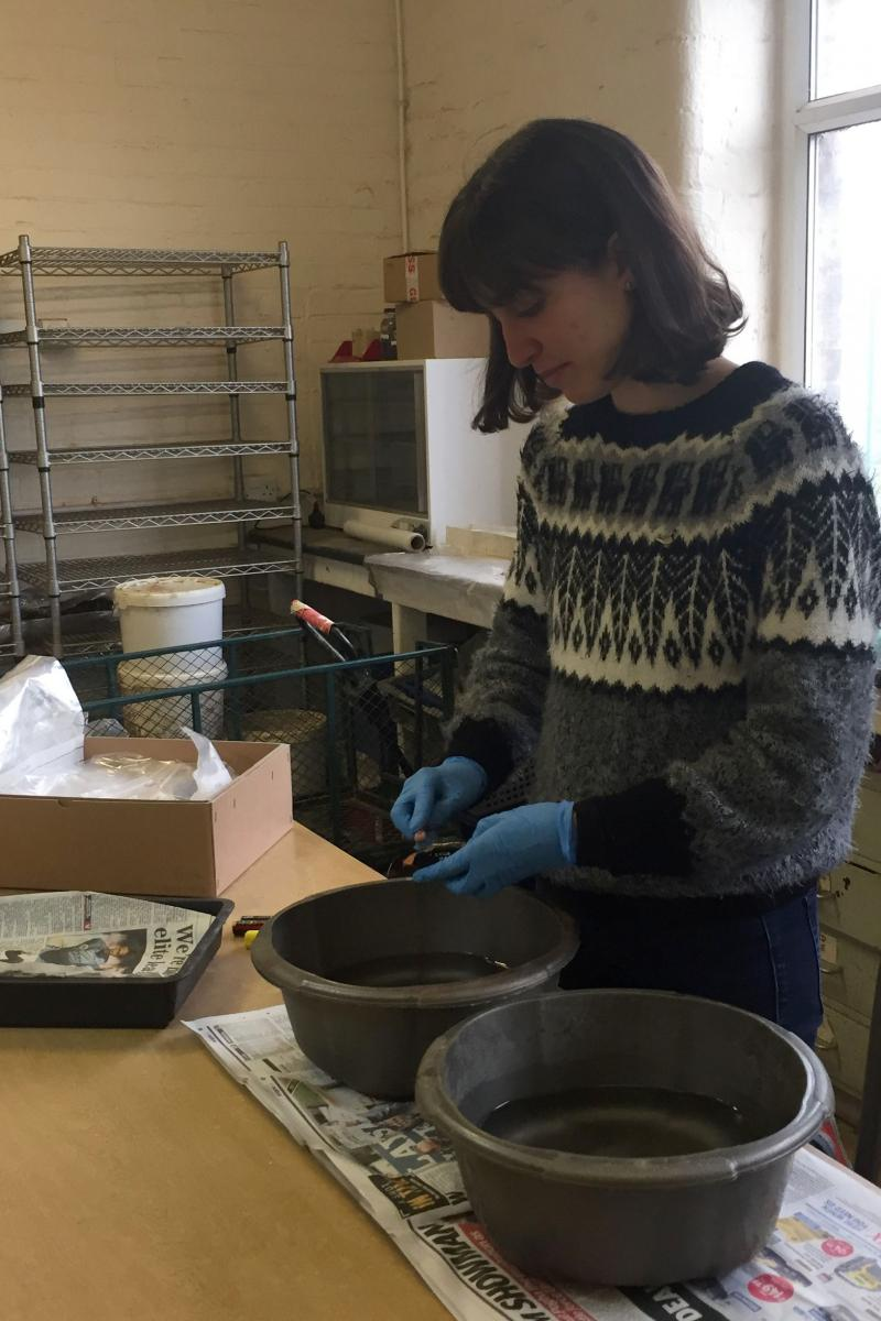 Cecilia Levratto work experience finds washing in Sheffield