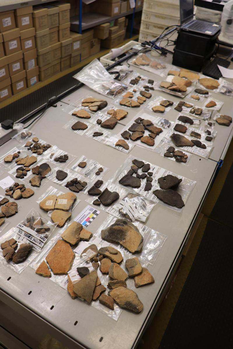 pottery recovered from excavations at Yatton: A trackway to the past