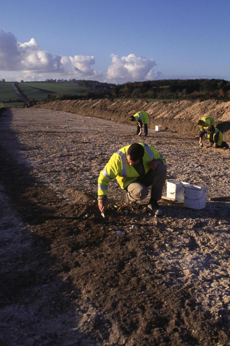 Archaeological excavation on the Old Sarum Pipeline
