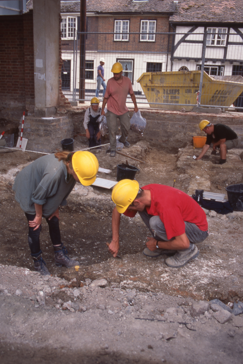 The Old George Mall site seen during excavations in 1994-1995