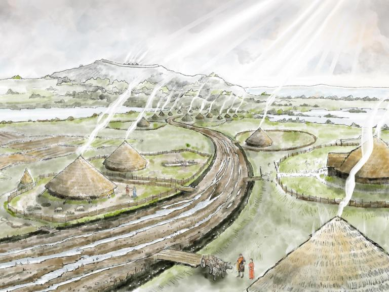 Iron Age village as seen on our online exhibitions