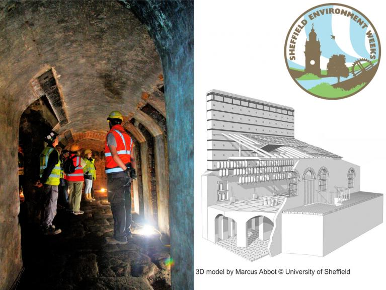 Underground at the Titanic Works and reconstruction of stoking furnace