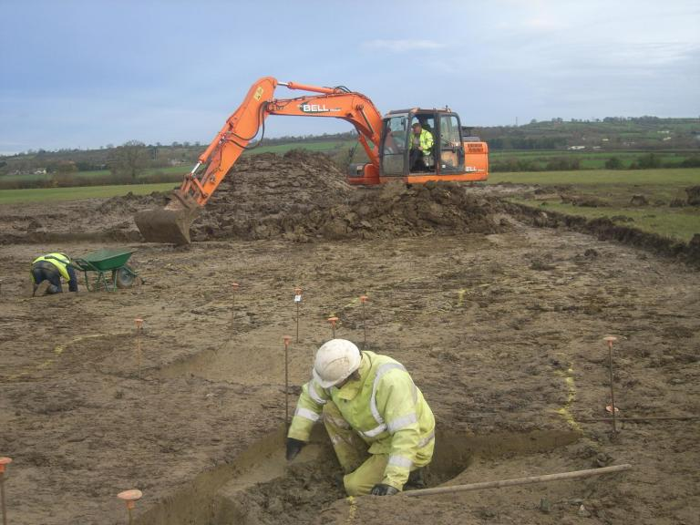 Excavating at Pylle