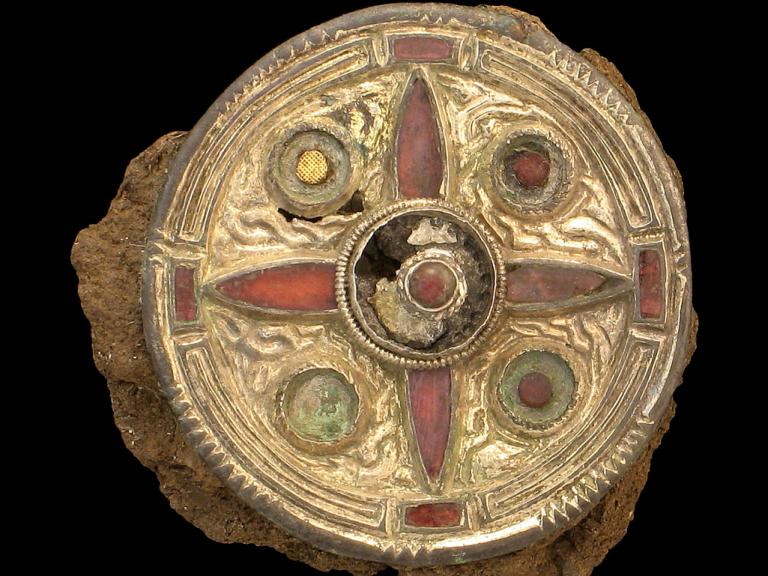 A Saxon disc brooch found in Kent