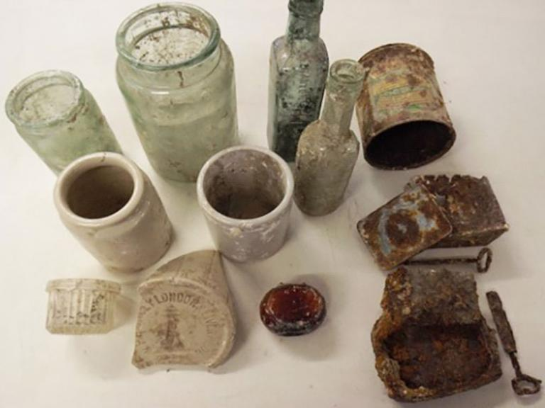 A selection of finds from the practice trenches at Larkhill