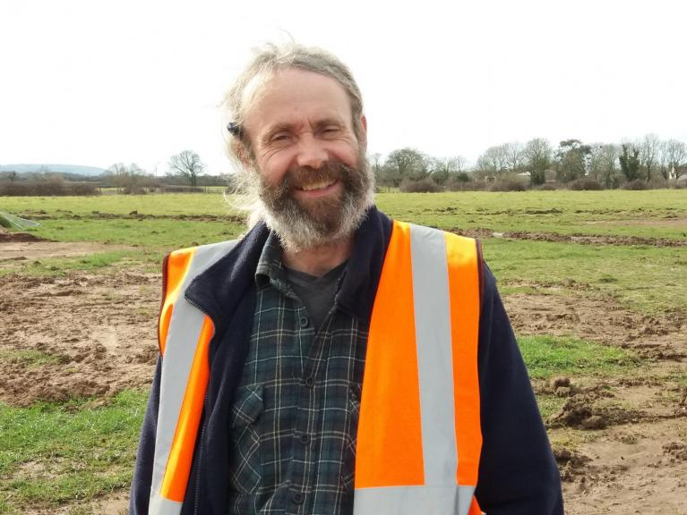On site: Ray Holt our new Bristol Project Officer