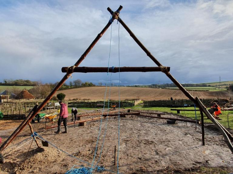 Building a Neolithic House: Our first trip to site
