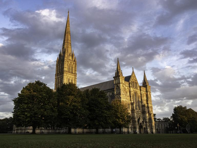 Salisbury Cathedral, at the heart of the city where Wessex Archaeology has excavated for 40 years
