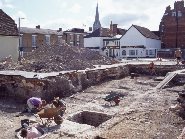 Excavations at Ivy Street and Brown Street by Wessex Archaeology in 1994