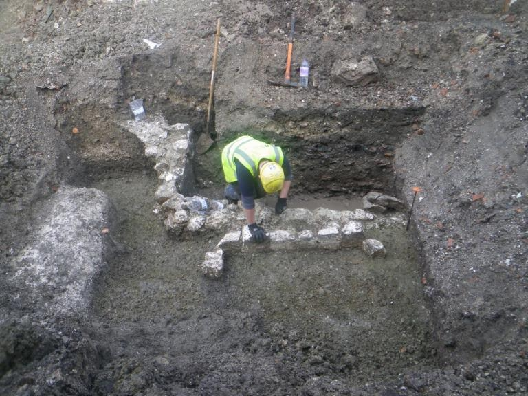 Excavations at 7-11 Brown Street by Wessex Archaeology