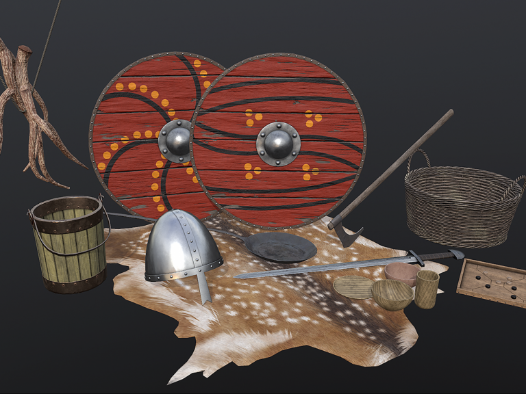 Virtual Reality 3D assets from our virtual experience of Saxon homelife