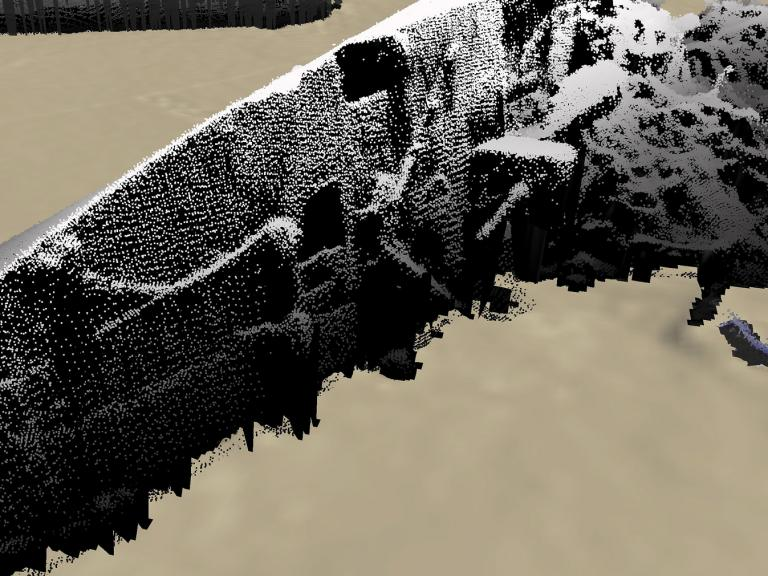 Point cloud from Scapa flow wreck survey, showing remains of the Rotherfield