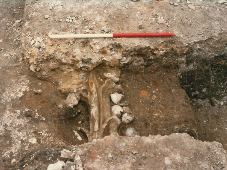 Stonework discovered during Rollestone St excavations