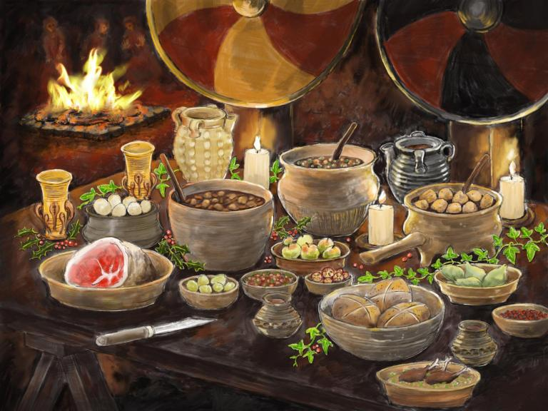 Season's Greetings - Reconstruction of a Saxon winters feast