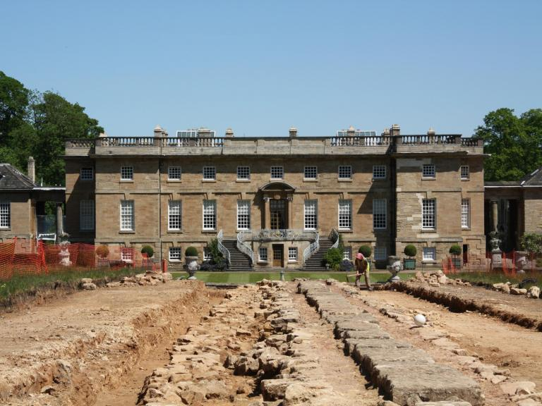 Archaeological excavation work at Bramham Park, Wetherby