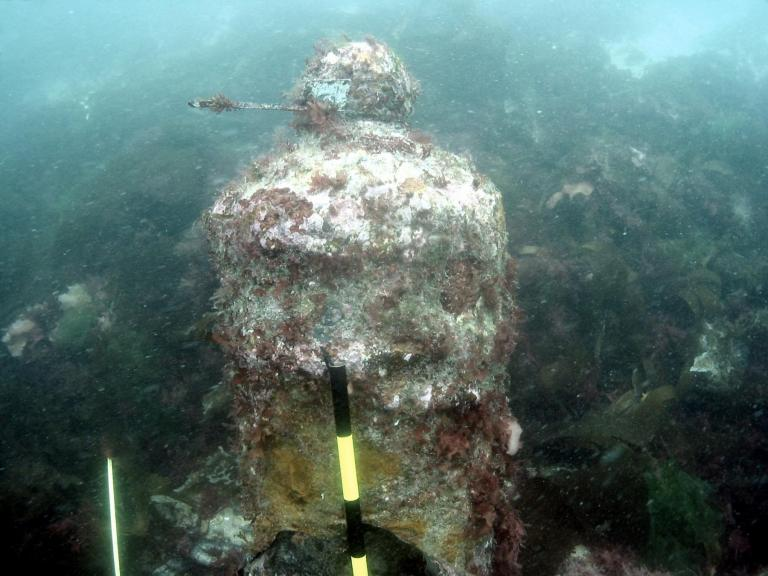 HMS Colossus canon on seabed