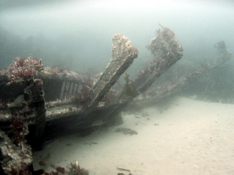 HMS Drake on the seabed