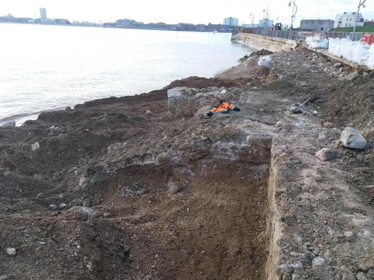 Historic walls uncovered at Southsea