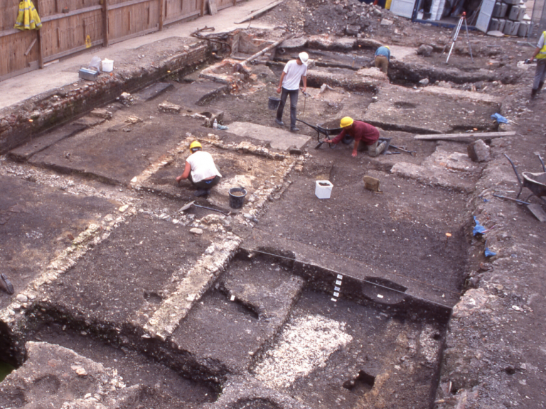 Anchor street excavations