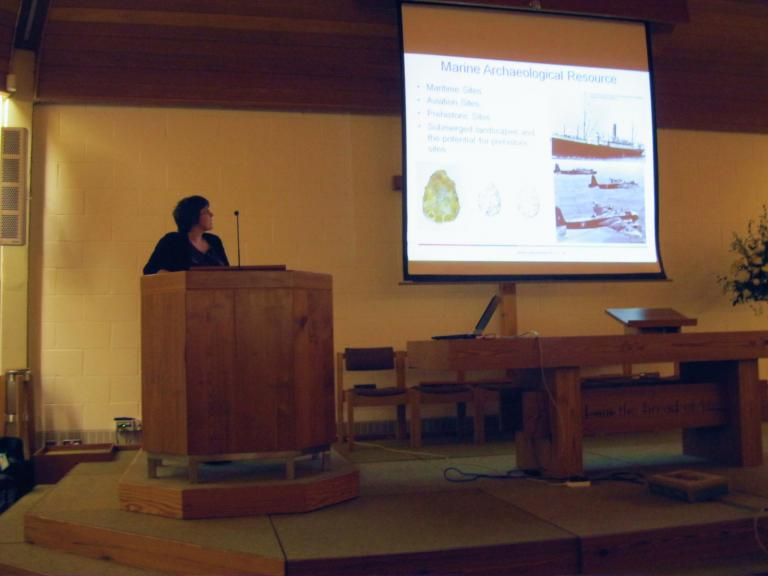 Presentation of submerged prehistory lecture