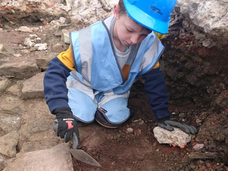 James volunteering at Sheffield Castle