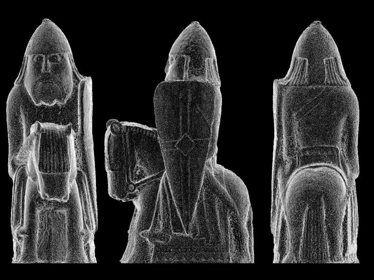 Images from the archaeological 3D model of the Lewis Chessman