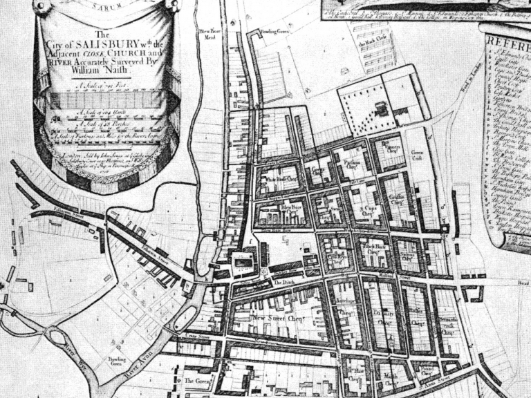 Naish's map of Salisbury from 1716